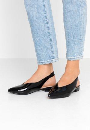 WIDE FIT - Slingback ballet pumps - black