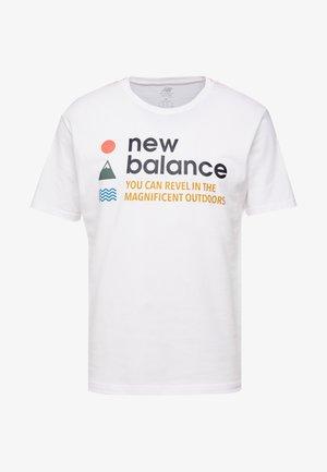 TRAIL TEE - Print T-shirt - munsell white