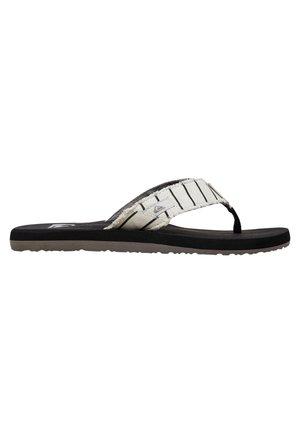 MONKEY ABYSS - T-bar sandals - white/black/blue