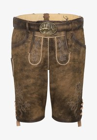 Spieth & Wensky - HAVEL - Leather trousers - brown - 3