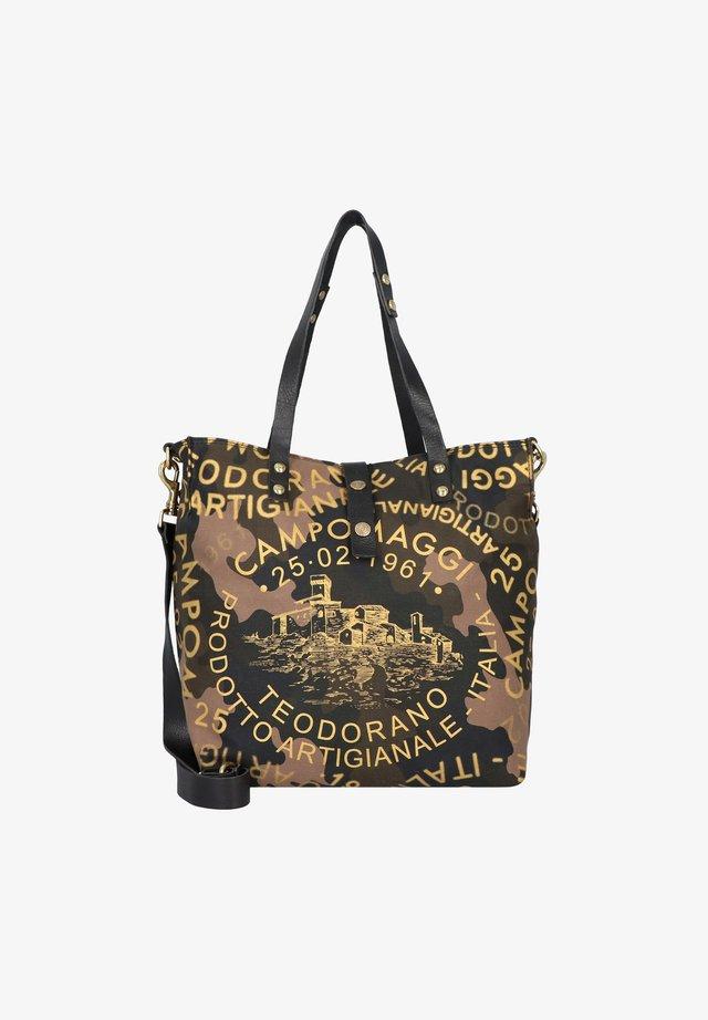 Tote bag - camouflage+nero+st.oro