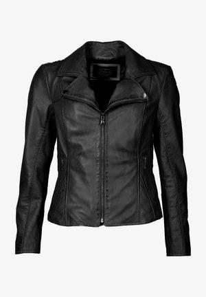 MIT ZIERNÄHTEN UND HEMDKRAGEN ERIJONA - Leather jacket - black