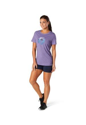 T-shirt print - dusk heather
