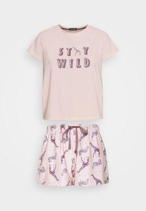 PARTY ANIMALS T-SHIRT WITH SHORTS - Pyjamas - pink