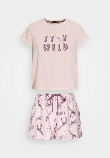 PARTY ANIMALS T-SHIRT WITH SHORTS - Pyjama - pink