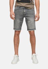 Q/S designed by - Denim shorts - grey - 3