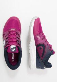 Head - SPRINT 2.5 CARPET WOMEN - Tenisové boty na umělý trávník - plum - 1