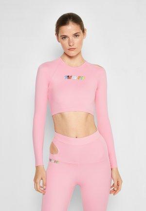 CUT AWAY TOP - Topper langermet - pink