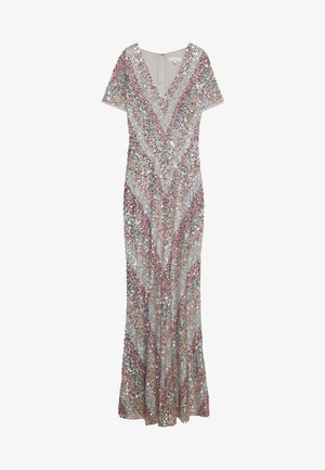 ALL OVER MULTI EMBELLISHED CHEVRON MAXI DRESS - Gallakjole - multi