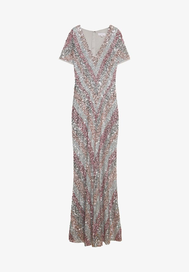 ALL OVER MULTI EMBELLISHED CHEVRON MAXI DRESS - Occasion wear - multi