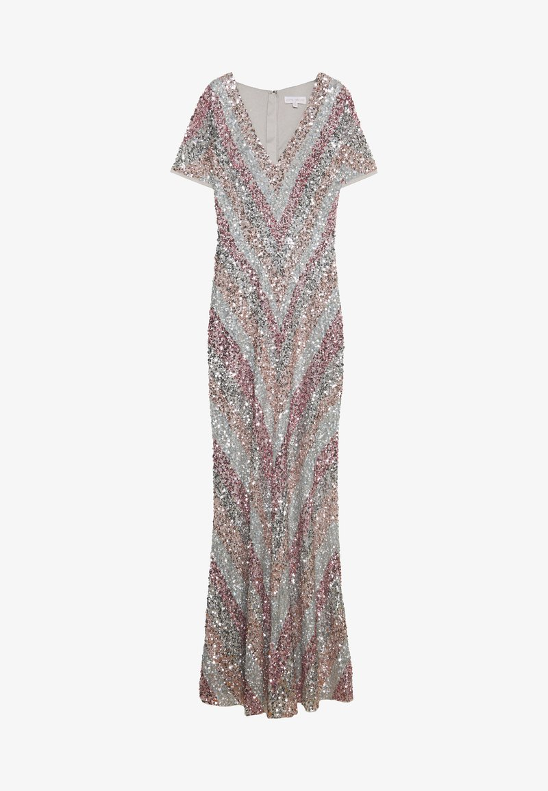 Maya Deluxe - ALL OVER MULTI EMBELLISHED CHEVRON MAXI DRESS - Occasion wear - multi