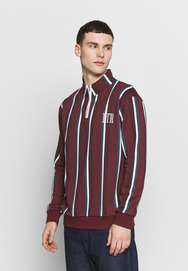 TORRANCE ZIP  - Sweater - burgundy