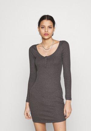 Jumper dress - mottled dark grey