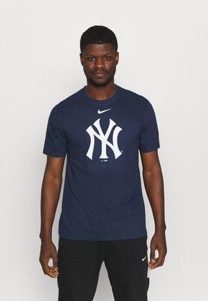 MLB NEW YORK YANKEES LARGE LOGO - Klubové oblečení - midnight navy