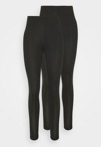 Vila - VIBE 2 PACK - Leggings - Trousers - black - 0