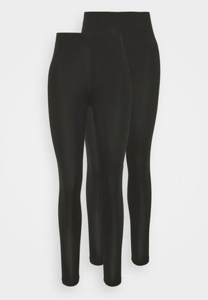 VIBE 2 PACK - Leggings - Trousers - black