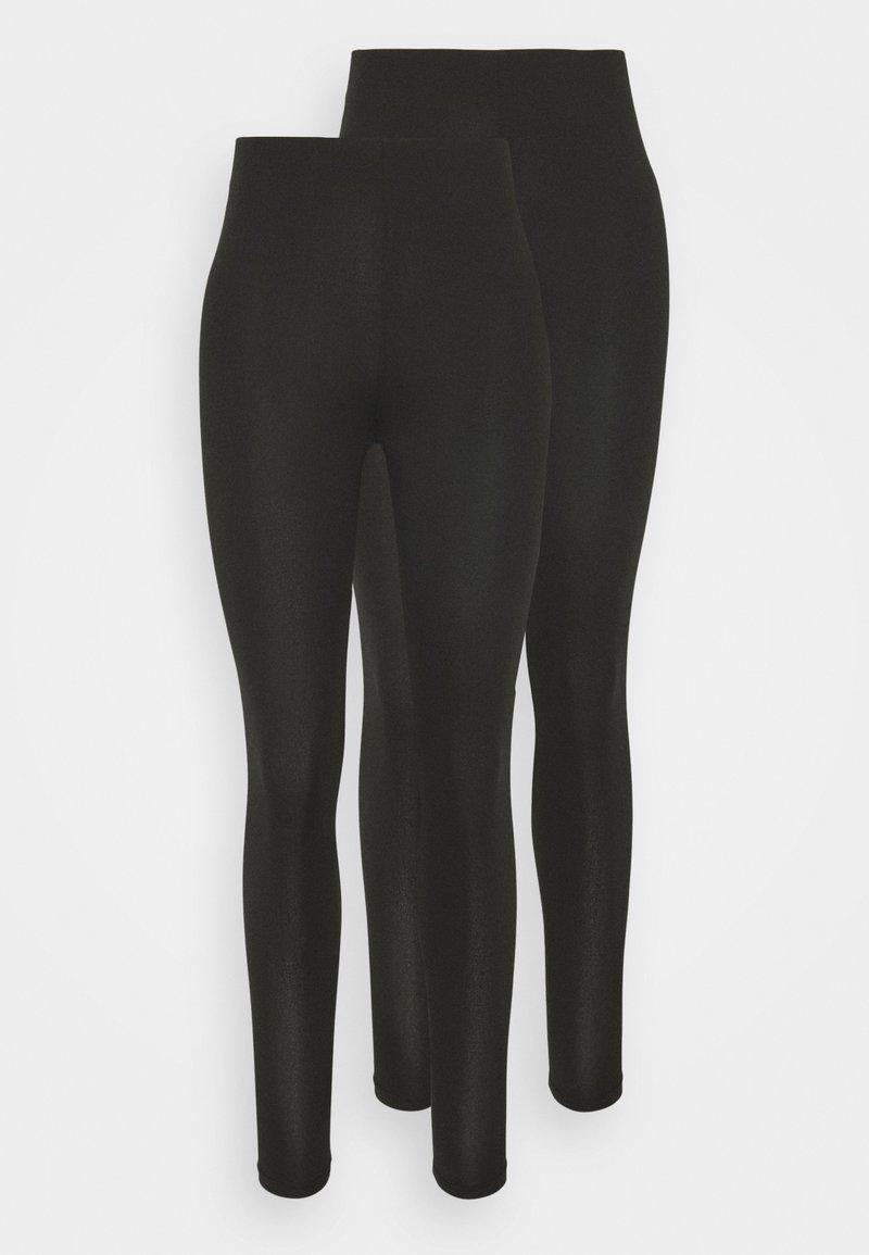 Vila - VIBE 2 PACK - Leggings - Trousers - black