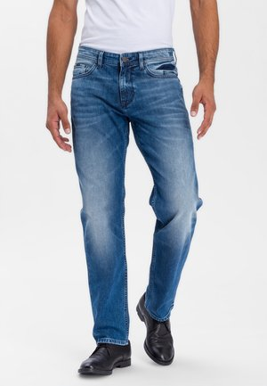 ANTONIO - Relaxed fit jeans - mid blue used