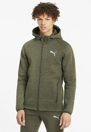 EVOSTRIPE  - veste en sweat zippée - forest night