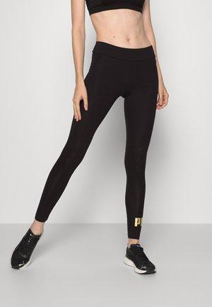 LEGGINGS - Leggings - black/gold