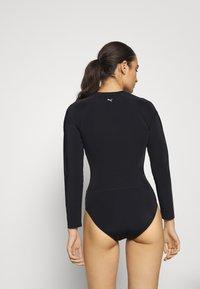 Puma - SWIM WOMEN LONG SLEEVE SURF SUIT - Swimsuit - black - 2