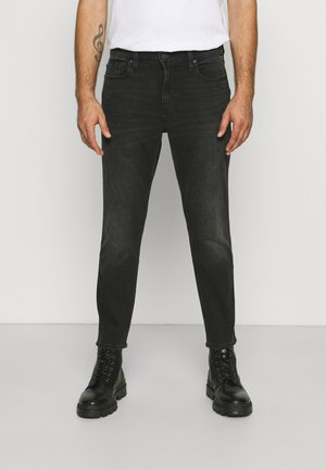 CROP - Jeans Tapered Fit - clean washed black