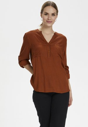 Blouse - gringer bread/black stripe