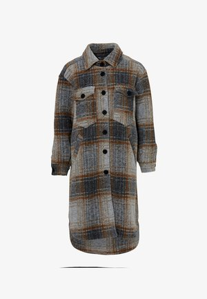 VALLEY - Classic coat - brown slash grey