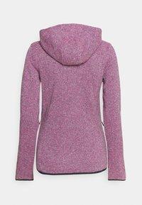 CMP - WOMAN JACKET FIX HOOD - Fleece jacket - purple fluo/antracite - 1