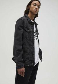 PULL&BEAR - Jeansjacka - mottled dark grey - 3