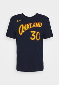 Nike Performance - NBA GOLDEN STATE WARRIORS STEPHEN CURRY CITY EDITION NAME - Club wear - college navy - 0