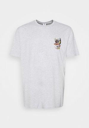 PRINTED TEE  - Print T-shirt - grey mel