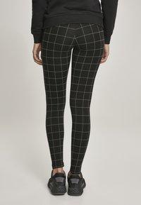 Urban Classics - Leggings - Trousers - black/white - 3