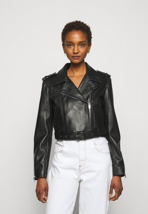 CACTUS - Leather jacket - noir
