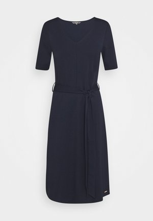 DRESS BELTED - Jersey dress - sky captain blue