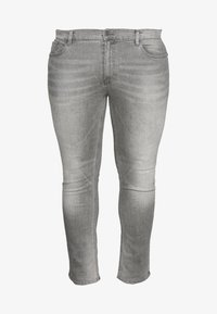 BIG KOREA - Slim fit jeans - light grey