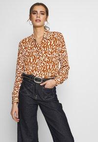 Object - OBJBAY - Button-down blouse - sugar almond/white - 0