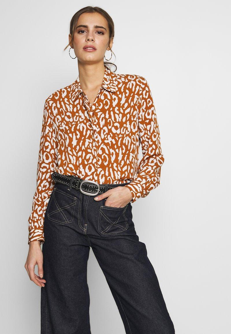 Object - OBJBAY - Button-down blouse - sugar almond/white