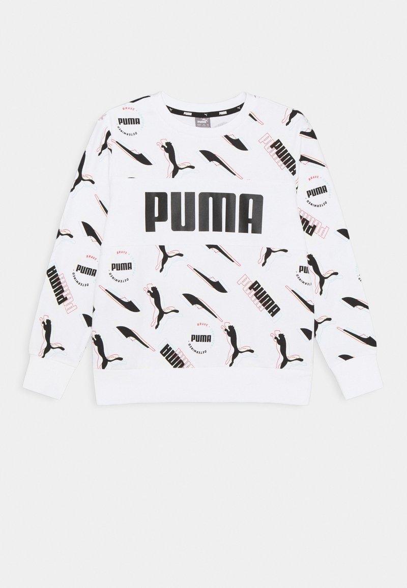 Puma - ALPHA CREW UNISEX - Sweatshirt - white