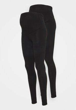 OLMLOVELY LIFE 2 PACK - Leggings - Trousers - black/black