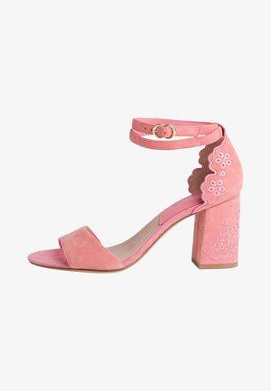 High heeled sandals - candy