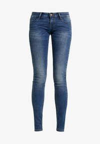 ONLY - ONLCORAL SUPERLOW - Vaqueros pitillo - dark blue denim - 4