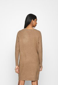 ONLY - ONLELENA DRESS - Jumper dress - toasted coconut/white melange - 2