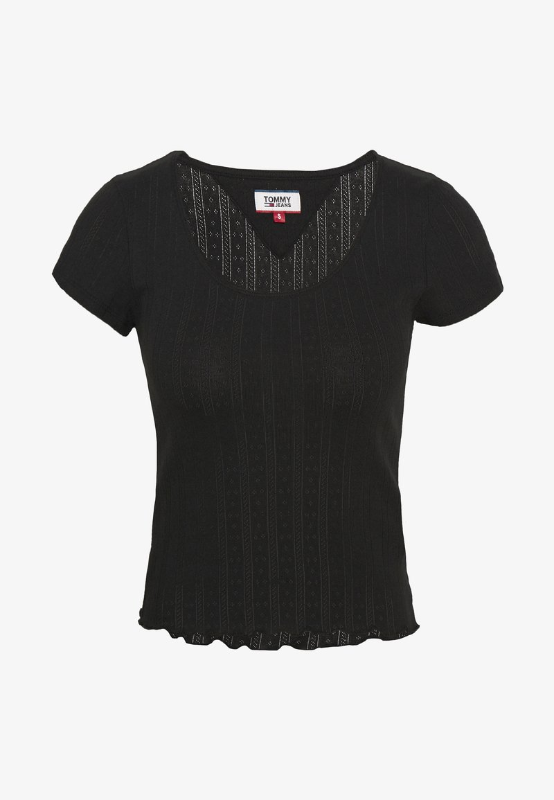 Tommy Jeans - BABYLOCK DETAIL TEE - Print T-shirt - black