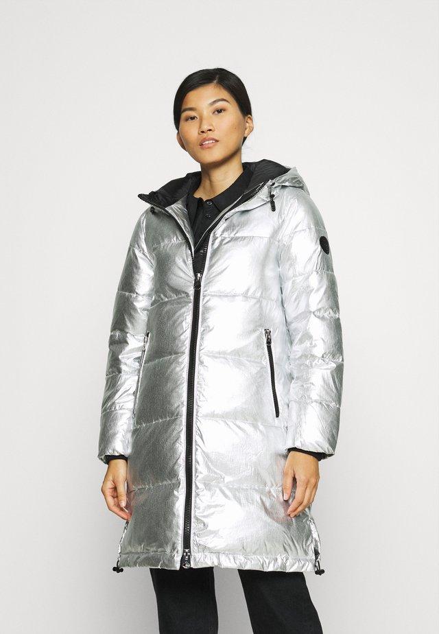 METALLIC LONG COAT - Veste d'hiver - silver