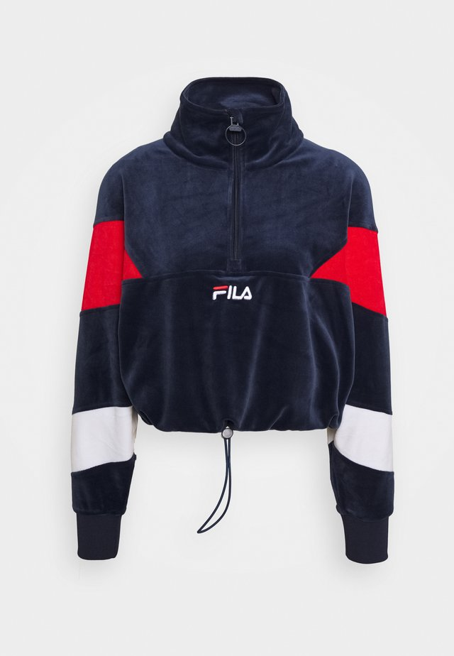 BELLINI CROPPED HALF ZIP - Sweatshirt - black iris/true red/bright white