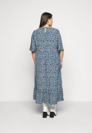MINI FLORAL MIDI DRESS - Vapaa-ajan mekko - dusty blue
