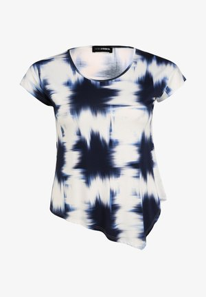 MIT ALLOVER-MUSTER - Print T-shirt - marine