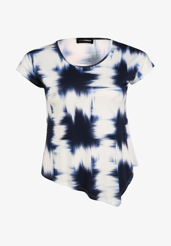 MIT ALLOVER-MUSTER - Print T-shirt - marine