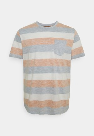 JJSTRIPE TEE CREW NECK - Print T-shirt - hawaiian sunset